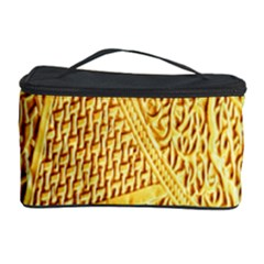 Gold Pattern Cosmetic Storage Case by BangZart