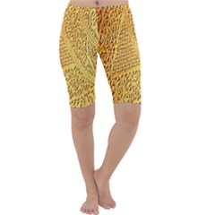 Gold Pattern Cropped Leggings