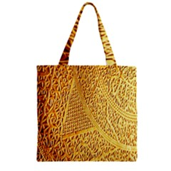 Gold Pattern Zipper Grocery Tote Bag by BangZart
