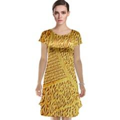 Gold Pattern Cap Sleeve Nightdress