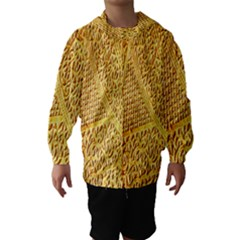 Gold Pattern Hooded Wind Breaker (kids)