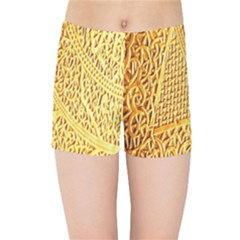 Gold Pattern Kids Sports Shorts