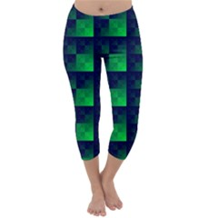 Fractal Capri Winter Leggings