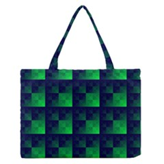 Fractal Medium Zipper Tote Bag