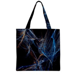 Fractal Tangled Minds Grocery Tote Bag by BangZart