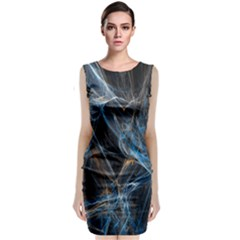 Fractal Tangled Minds Classic Sleeveless Midi Dress