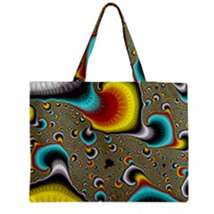 Fractals Random Bluray Medium Zipper Tote Bag