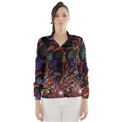 Fractal Swirls Wind Breaker (women)