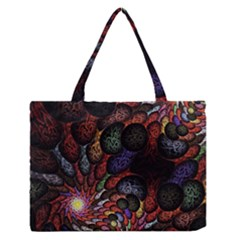 Fractal Swirls Medium Zipper Tote Bag