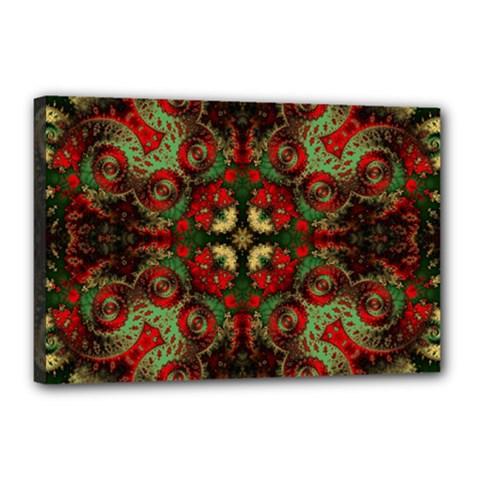 Fractal Kaleidoscope Canvas 18  X 12