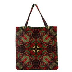 Fractal Kaleidoscope Grocery Tote Bag by BangZart