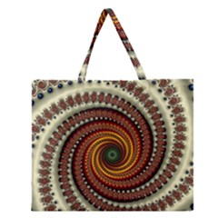 Fractal Pattern Zipper Large Tote Bag