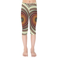 Fractal Pattern Kids  Capri Leggings