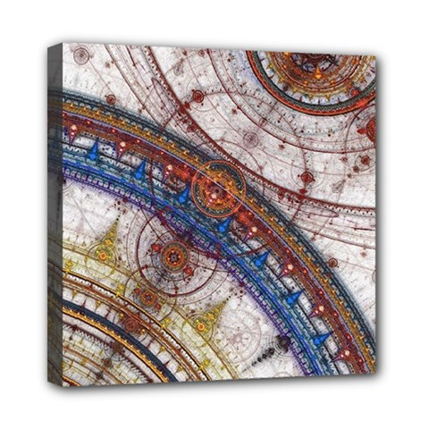 Fractal Circles Mini Canvas 8  X 8