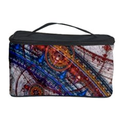 Fractal Circles Cosmetic Storage Case by BangZart