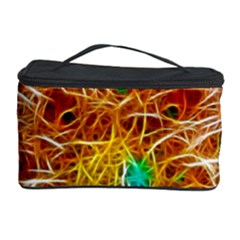 Fractal Peacock Art Cosmetic Storage Case