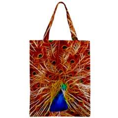 Fractal Peacock Art Zipper Classic Tote Bag by BangZart