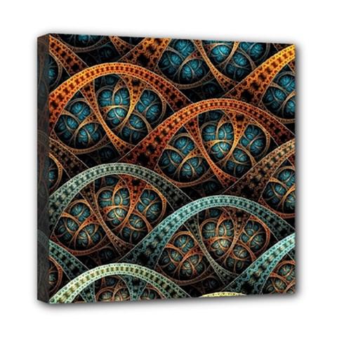 Fractal Art Pattern Flower Art Background Clored Mini Canvas 8  X 8  by BangZart