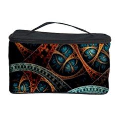 Fractal Art Pattern Flower Art Background Clored Cosmetic Storage Case by BangZart