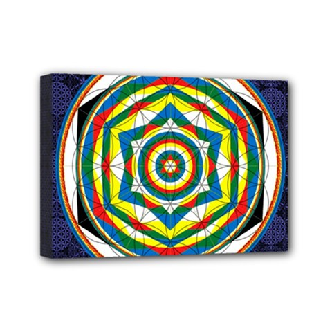 Flower Of Life Universal Mandala Mini Canvas 7  X 5