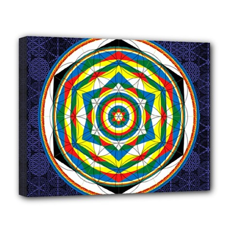 Flower Of Life Universal Mandala Deluxe Canvas 20  X 16   by BangZart