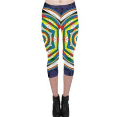 Flower Of Life Universal Mandala Capri Leggings