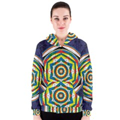 Flower Of Life Universal Mandala Women s Zipper Hoodie
