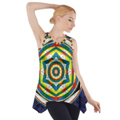 Flower Of Life Universal Mandala Side Drop Tank Tunic
