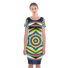 Flower Of Life Universal Mandala Classic Short Sleeve Midi Dress