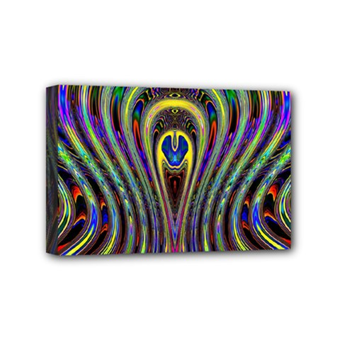 Curves Color Abstract Mini Canvas 6  X 4