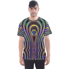 Curves Color Abstract Men s Sports Mesh Tee by BangZart