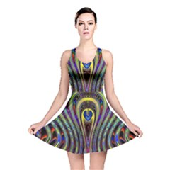 Curves Color Abstract Reversible Skater Dress by BangZart