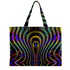 Curves Color Abstract Zipper Mini Tote Bag