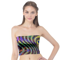 Curves Color Abstract Tube Top