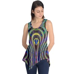 Curves Color Abstract Sleeveless Tunic