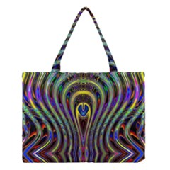 Curves Color Abstract Medium Tote Bag