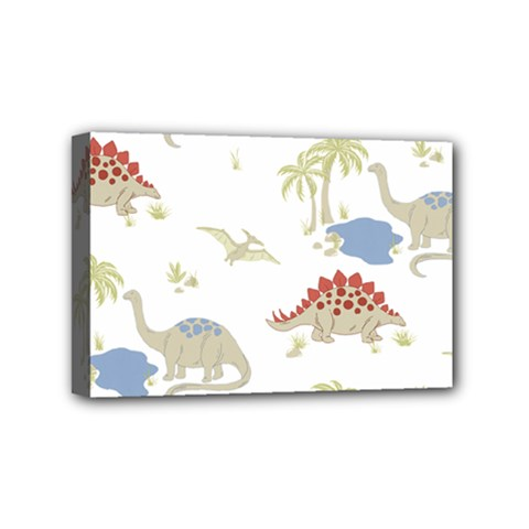 Dinosaur Art Pattern Mini Canvas 6  X 4