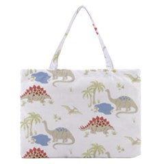 Dinosaur Art Pattern Medium Zipper Tote Bag