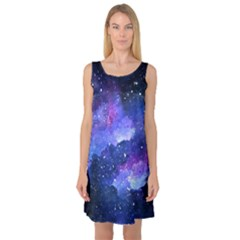 Galaxy Sleeveless Satin Nightdress by Kathrinlegg