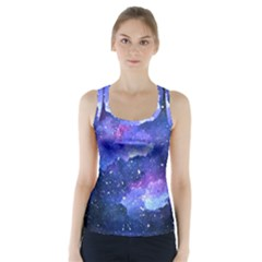 Galaxy Racer Back Sports Top by Kathrinlegg