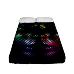 Digital Art Psychedelic Face Skull Color Fitted Sheet (full/ Double Size)