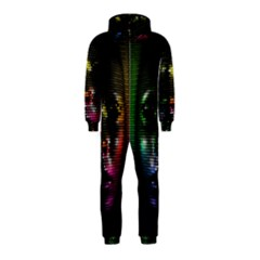 Digital Art Psychedelic Face Skull Color Hooded Jumpsuit (kids)