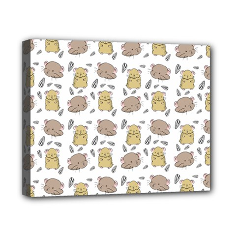 Cute Hamster Pattern Canvas 10  X 8  by BangZart