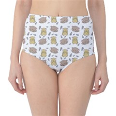 Cute Hamster Pattern High Waist Bikini Bottoms