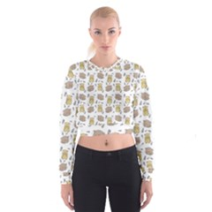 Cute Hamster Pattern Cropped Sweatshirt