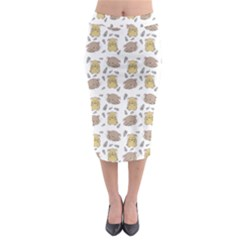 Cute Hamster Pattern Midi Pencil Skirt