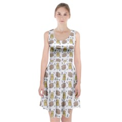 Cute Hamster Pattern Racerback Midi Dress