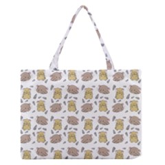 Cute Hamster Pattern Medium Zipper Tote Bag