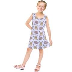 Cute Hamster Pattern Kids  Tunic Dress