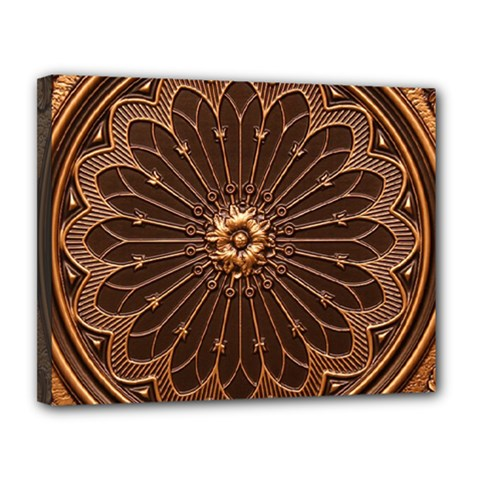 Decorative Antique Gold Canvas 14  X 11  by BangZart